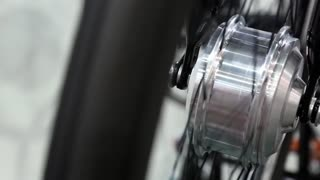 Spinning electric wheel for city bicycle. Bicycle electric wheel