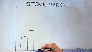 Stock market video stock footage