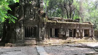 Structure in Angkor Thom temple complex in Cambodia