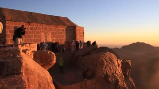 Sunrise on Mount Sinai (Moses Mountain), Sinai Peninsula, Egypt. Mount Sinai, also known as Mount Horeb, is a mountain in the Sinai Peninsula of Egypt that is the traditional and most accepted identification of the Biblical Mount Sinai.