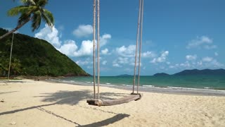 Swing on the beach on beautiful island in Thailand