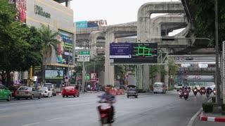 THAILAND, BANGKOK, APRIL 11, 2014: Road traffic in Bangkok, Thailand