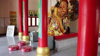 THAILAND, PATTAYA, APRIL 1, 2014: Interior of buddhist temple on Pratumnak Hill near Big Golden Buddha statue in Pattaya, Thailand