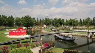 THAILAND, PATTAYA, APRIL 7, 2014: People in Mini Siam park in Pattaya, Thailand