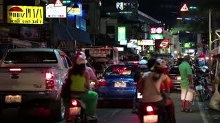 THAILAND, PATTAYA, MARCH 31, 2014: Road traffic on the Beach Road in Pattaya, Thailand
