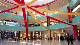 The Dubai Mall is the world's largest shopping mall based on total area and fifth largest by gross leasable area. Located in Dubai, United Arab Emirates it is part of the 20-billion-dollar Burj Khalifa complex and includes 1200 shops