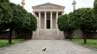 The main building of the Academy of Athens in Greece