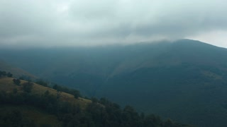 Timelapse of storm clouds in mountains. Video without birds and defects