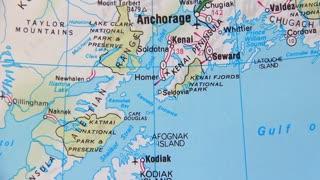 Topographical map of the USA. Alaska