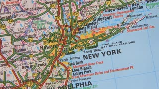 Topographical map of the USA. New York