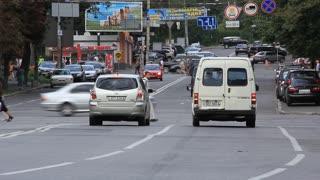 Traffic area in Kiev, Ukraine