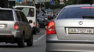 Trafficway in Kiev, Ukraine