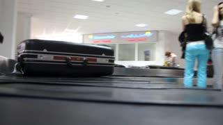 Travelling. Luggage claim area