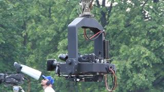 TV-camera and operator