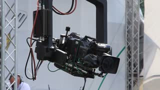 TV-camera. Video filming