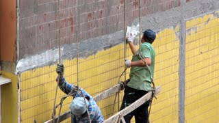 Two working man. House painters