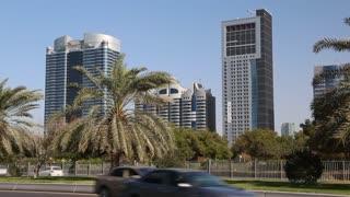 UAE, ABU DHABI, FEBRUARY 4, 2016: Abu Dhabi - capital of the United Arab Emirates. Abu-Dhabi - second most populous city in United Arab Emirates, after Dubai, and also capital of Abu Dhabi emirate