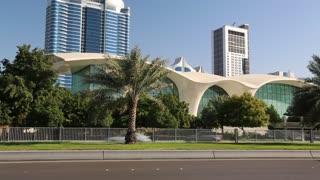 UAE, ABU DHABI, FEBRUARY 4, 2016: Abu Dhabi - capital of United Arab Emirates. Abu-Dhabi - second most populous city in UAE, after Dubai, and also capital of Abu Dhabi emirate. Corniche