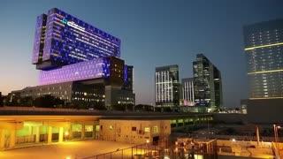 UAE, ABU DHABI, FEBRUARY 4, 2016: Cleveland clinic in Abu Dhabi, Al Maryah island, United Arab Emirates. Abu Dhabi - capital and second most populous city in United Arab Emirates, after Dubai