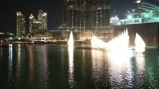 UAE, DUBAI, FEBRUARY 3, 2016: Burj Khalifa skyscraper and singing fountains in Dubai, United Arab Emirates. Burj Khalifa - megatall skyscraper, currently tallest structure in the world, 829,8 m