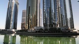 UAE, DUBAI, FEBRUARY 5, 2016: Jumeirah Lakes Towers, Dubai multi commodities centre, United Arab Emirates. Dubai is a city and emirate in United Arab Emirates