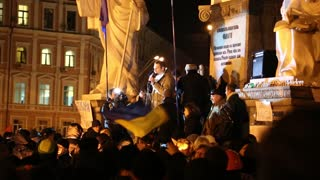 UKRAINE, KIEV, DECEMBER 1, 2013: Pro-EU rallies in Ukrainian capital Kiev after government called off EU deal. Politician Vitali Klitschko