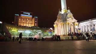 UKRAINE, KIEV, DECEMBER 1, 2013: Pro-EU rallies in Ukrainian capital Kiev after government called off EU deal.