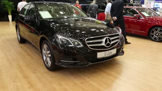 "UKRAINE, KIEV, MAY 31: Mercedes-Benz E-class at yearly automotive-show ""SIA 2013"" in  Kiev, Ukraine, May 31, 2013"