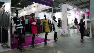 UKRAINE, KIEV, SEPTEMBER 14, 2012: People at fashion show and trade fair in Kiev, Ukraine