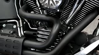 UKRAINE, KIEV, SEPTEMBER 7, 2012: Harley Davidson at yearly automotive-show