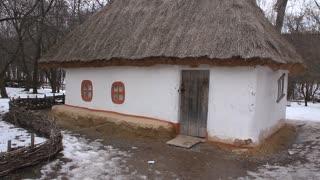 Ukrainian hut video stock footage