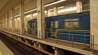 Underground station in Kiev, Ukraine
