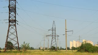Urban district, transmission facilities and fuming chimney of heat electropower station