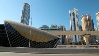 Dubai metro, United Arab Emirates. Dubai Marina - district in heart of what has become known as New Dubai. Dubai Marina - the largest man-made marina in the world
