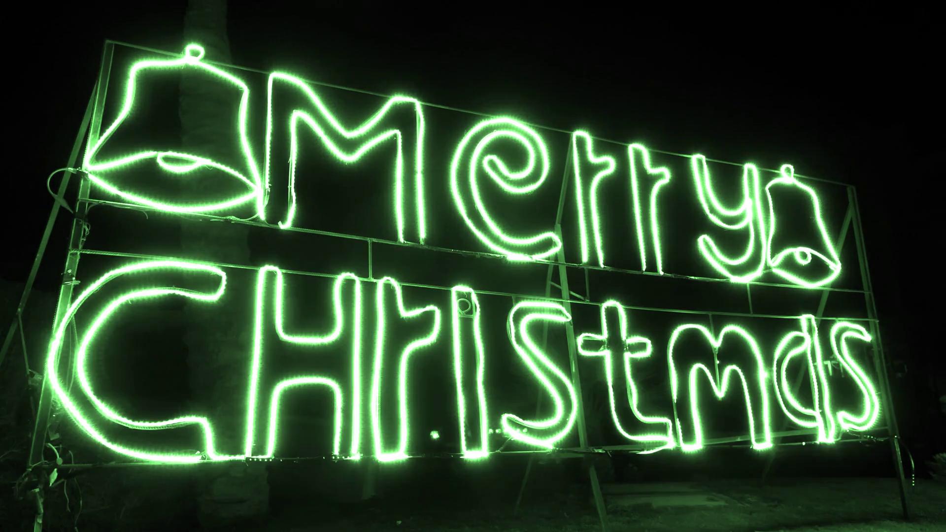 videoblocks green neon night signboard with message merry christmas hne0az4j7l thumbnail 1080 09