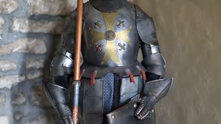 Knight armours with spear