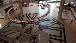 People in museum of islamic art in Doha, Qatar