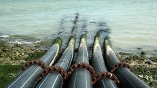 Pipes for intake of sea water and desalination