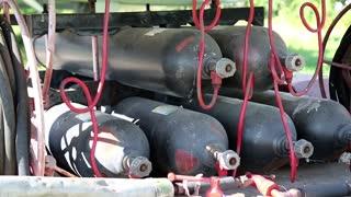 Pressure tanks, black gas cylinders