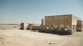 Ruins of abandoned village Al-Jumail, north Qatar, Persian Gulf, Arabian Peninsula, Middle East