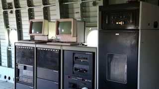 UKRAINE, KIEV, AUGUST 23, 2016: Old Soviet controlled computing complex CM 1420. SM EVM or System of Mini Computers was general name for several types of Soviet minicomputers produced in 1970s -1980s