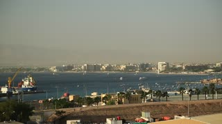 View of Aqaba city in Jordan