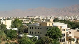 View of the city of Aqaba in Hashemite Kingdom of Jordan