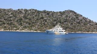 Voyage. Turkey Kekova-Simena Region, white yacht
