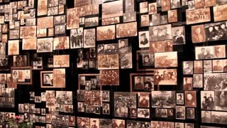 Wall with old photos