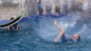 Water amusement video stock footage