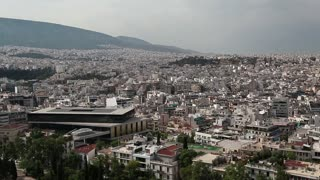 White buildings in centre of Athens in Greece