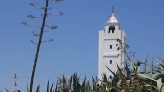 White tower in Sidi Bou Said, Tunisia