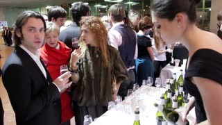 Wine sampling. People drink wine. People tasting wine