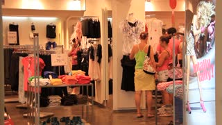 Women in clothing shop